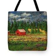 North Idaho Farm Tote Bag by David Patterson