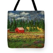 North Idaho Farm Tote Bag by David Patterson