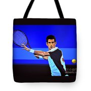 Novak Djokovic Tote Bag by Paul Meijering