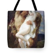 Nymph Abducted By A Faun Tote Bag by Alexandre Cabanel