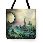Ocean Moonrise Tote Bag by Kaye Miller-Dewing