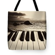 Ocean Washing Over Keyboard Tote Bag by Garry Gay