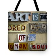 Ode to Art Tote Bag by Jill Reger