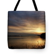 Ohio River Sunset Tote Bag by Sandy Keeton