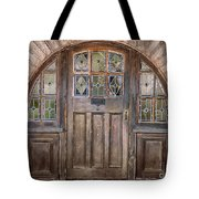 Old Archway And Door Tote Bag by Sandra Bronstein