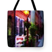 Old City Streets - Elfreth's Alley Tote Bag by Bill Cannon