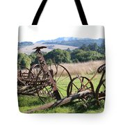 Old Farm Equipment . 7d9744 Tote Bag by Wingsdomain Art and Photography