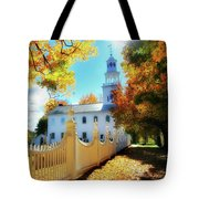 Old First Church Of Bennington Tote Bag by Thomas Schoeller