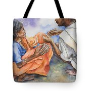 Old Hands Tote Bag by Kate Bedell