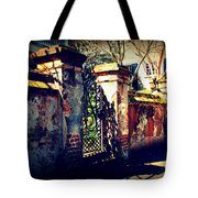 Old Iron Gate In Charleston Sc Tote Bag by Susanne Van Hulst