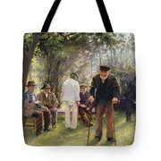 Old Men In Rockingham Park Tote Bag by Walter Bonner Gash