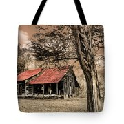 Old Mountain Cabin Tote Bag by Debra and Dave Vanderlaan