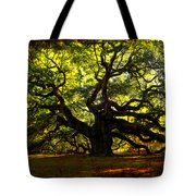 Old Old Angel Oak In Charleston Tote Bag by Susanne Van Hulst