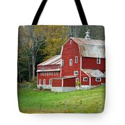 Old Red Vermont Barn Tote Bag by Edward Fielding