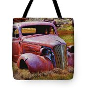 Old Rusty Car Bodie Ghost Town Tote Bag by Garry Gay