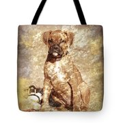 Old Time Boxer Portrait Tote Bag by Angie Tirado-McKenzie