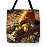 Old Wagon Full Of Autumn Fruit Tote Bag by Garry Gay