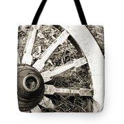Old Wagon Wheel Tote Bag by Marilyn Hunt