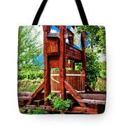 Old Wine Press Tote Bag by Mariola Bitner