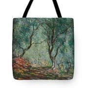 Olive Trees In The Moreno Garden Tote Bag by Claude Monet