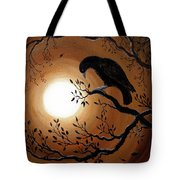 Ominous Bird Of Yore Tote Bag by Laura Iverson