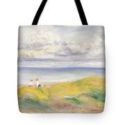 On The Cliffs Tote Bag by Pierre Auguste Renoir