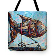 On The Conquer For Land Tote Bag by Darwin Leon