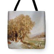 On The River Neckar Near Heidelberg Tote Bag by Joseph Paul Pettit