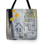 On The Same Street Tote Bag by Linda Woods