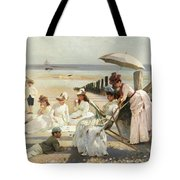 On The Shores Of Bognor Regis Tote Bag by Alexander M Rossi