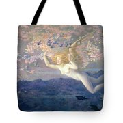 On the Wings of the Morning Tote Bag by Edward Robert Hughes