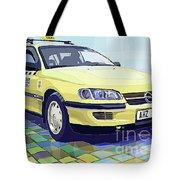 Opel Omega A Caravan Prague Taxi Tote Bag by Yuriy  Shevchuk