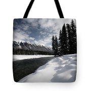 Open Water In Winter Tote Bag by Mark Duffy