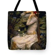 Ophelia Tote Bag by John William Waterhouse