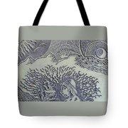 Original Linoleum Block Print Tote Bag by Thor Senior