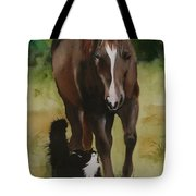 Oscar And Friend Tote Bag by Jean Blackmer