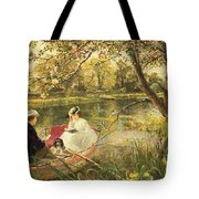 Our Holiday Tote Bag by Charles James Lewis