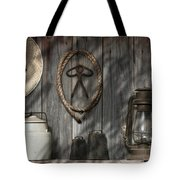 Out In The Barn IIi Tote Bag by Tom Mc Nemar