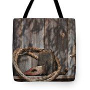 Out In The Barn Iv Tote Bag by Tom Mc Nemar