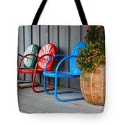 Outdoor Living Tote Bag by Karon Melillo DeVega