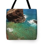 Overlooking Puu Pehe II Tote Bag by Ron Dahlquist - Printscapes