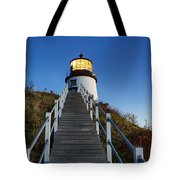 Owls Head Lighthouse Tote Bag by John Greim