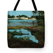 Oyster Lake Tote Bag by Racquel Morgan