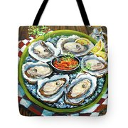 Oysters On The Half Shell Tote Bag by Dianne Parks
