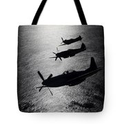 P-51 Cavalier Mustang With Supermarine Tote Bag by Daniel Karlsson