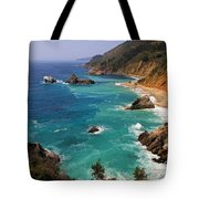 Pacific Coast Blues Tote Bag by Donna Kennedy