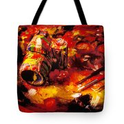 Painted camera Tote Bag by Garry Gay