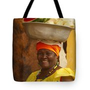 Palenquera In Cartagena Colombia Tote Bag by Anna Smith