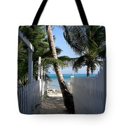Palm Alley Tote Bag by Karen Wiles