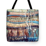 Palm Contractions Tote Bag by Kerryn Madsen-Pietsch